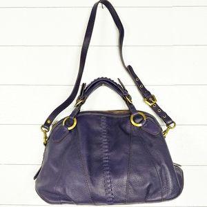 orYANY Purple Pebble Leather Purse